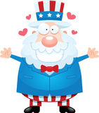 Cartoon Uncle Sam Hug Stock Image