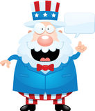 Cartoon Uncle Sam Talking Stock Photography