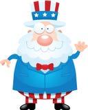 Cartoon Uncle Sam Waving Royalty Free Stock Photography