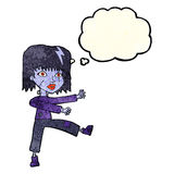 Cartoon undead girl with thought bubble Royalty Free Stock Photography