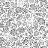 Cartoon under water life seamless pattern Stock Image