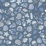 Cartoon under water life seamless pattern Royalty Free Stock Image