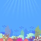 Cartoon undersea, vector Stock Images
