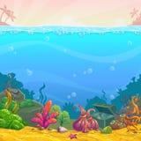 Cartoon underwater background. Stock Photography