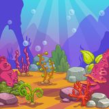 Cartoon underwater background. Stock Photos