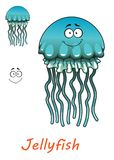 Cartoon underwater jellyfish Royalty Free Stock Images