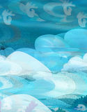 Cartoon underwater scene Stock Photo