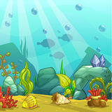 Cartoon underwater vector illustration. stock illustration