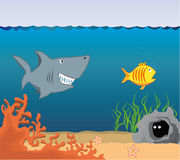 Cartoon Underwater World. Stock Photography