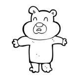 cartoon unhappy bear Royalty Free Stock Photo