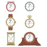 Cartoon unhappy clock face smiles 08 Royalty Free Stock Photography