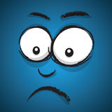 Cartoon unhappy face Royalty Free Stock Images