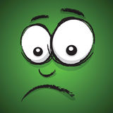 Cartoon unhappy face Royalty Free Stock Image
