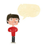 Cartoon unhappy man with speech bubble Stock Image