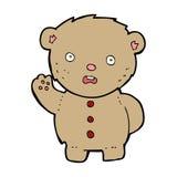 cartoon unhappy teddy bear Royalty Free Stock Photography