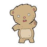 cartoon unhappy teddy bear Royalty Free Stock Images
