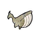 Cartoon unhappy whale Stock Photos