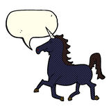 Cartoon unicorn with speech bubble Royalty Free Stock Images
