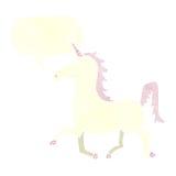 Cartoon unicorn with speech bubble Royalty Free Stock Photo