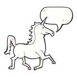Cartoon unicorn with speech bubble Royalty Free Stock Photos