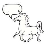 Cartoon unicorn with speech bubble Stock Photos