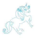 Cartoon unicorn Royalty Free Stock Photography