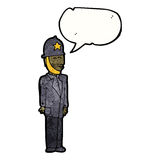 Cartoon uniformed british police officier Royalty Free Stock Photography