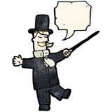 Cartoon upper class man Stock Images