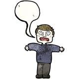 Cartoon upset man Royalty Free Stock Photos