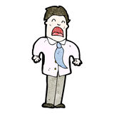 Cartoon upset office man Royalty Free Stock Photo