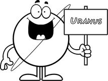 Cartoon Uranus Sign Royalty Free Stock Photos