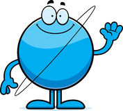 Cartoon Uranus Waving Stock Image