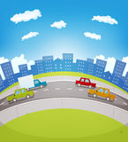 Cartoon Urban Traffic Royalty Free Stock Images