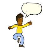 Cartoon urgent man with speech bubble Stock Image