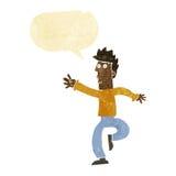 Cartoon urgent man with speech bubble Stock Images