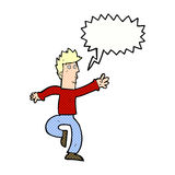 Cartoon urgent man with speech bubble Royalty Free Stock Photo