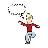 Cartoon urgent man with speech bubble Royalty Free Stock Image