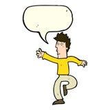 Cartoon urgent man with speech bubble Stock Photo