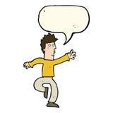 Cartoon urgent man with speech bubble Royalty Free Stock Photos