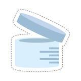 Cartoon urine sample container icon. Illustration eps 10 Stock Photo