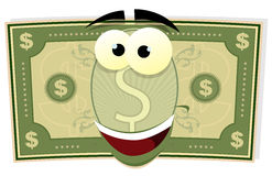 Cartoon US Dollar Character Royalty Free Stock Images
