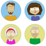 Cartoon user profile picture icon vector set Royalty Free Stock Photo