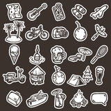 Cartoon vacation icons Royalty Free Stock Images