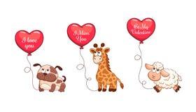 Cartoon Valentine card Stock Image