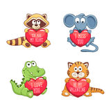 Cartoon Valentine card Stock Images