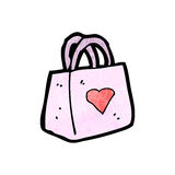 cartoon valentine gift bag Royalty Free Stock Photo
