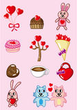Cartoon Valentine icon Stock Images