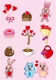 Cartoon Valentine icon Stock Images
