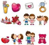 Cartoon Valentine icon Royalty Free Stock Image