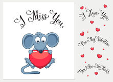 Cartoon Valentine's card Stock Photo
